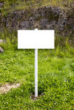 Empty Countryside Signpost - White Royalty Free Stock Photography