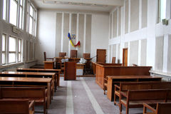 Empty courtroom Royalty Free Stock Images