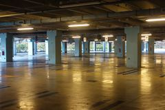 Empty covered parking Royalty Free Stock Images
