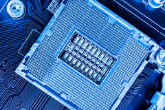 Empty CPU Socket Stock Photo