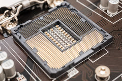 Empty CPU Socket Royalty Free Stock Photos