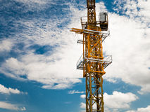 An empty crane in a construction site Royalty Free Stock Photography