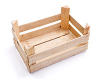 Empty crate for fruits and vegetables Stock Photos