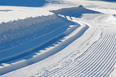 Empty cross-country ski track Royalty Free Stock Image