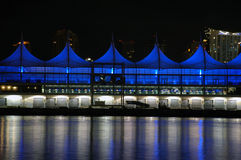Empty Cruise Ship Terminal at Night Royalty Free Stock Photos
