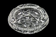 Empty crystal ashtray Stock Photography