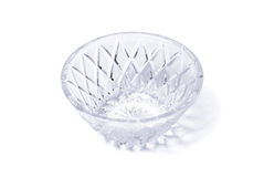 Empty crystal vase on white Stock Image