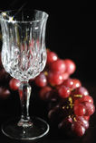 Empty crystal wine glass Stock Photos