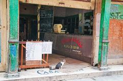 Empty cuban supermarket aka Bodega Royalty Free Stock Photography