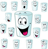 Empty cup cartoon with funny face - vector Stock Photo