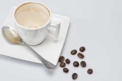 An empty cup of coffee. Stock Images