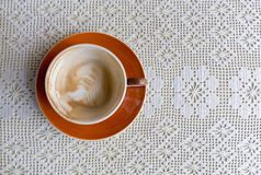 Empty cup of coffee stock image