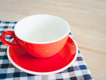 Empty cup of coffee. royalty free stock photography