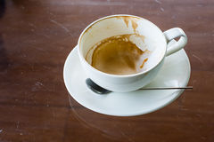 The empty cup of coffee Royalty Free Stock Images