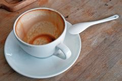 Empty cup of coffee Stock Photography