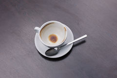 Empty cup of coffee on table Royalty Free Stock Photos