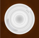 Empty cup for coffee or tea, top view. EPS 10 Stock Photo