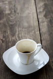 Empty cup of espresso Royalty Free Stock Image