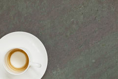 Empty cup of espresso coffee Royalty Free Stock Image
