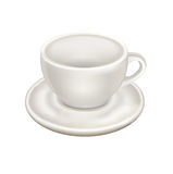Empty cup of porcelain with plate isolated Royalty Free Stock Image