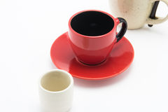 Empty cup row Royalty Free Stock Images