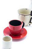 Empty cup row Royalty Free Stock Image