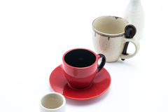 Empty cup row Stock Image