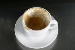 Empty Cup with Saucer. Empty cup of coffee, or cappuccino Royalty Free Stock Images
