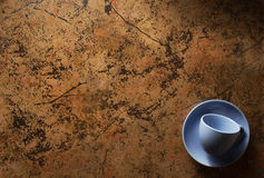 Empty cup and saucer Stock Images