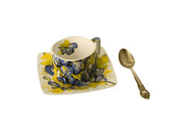 Empty cup and spoon Stock Photo