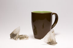 Empty Cup and Tea Bag Stock Photography
