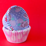 Empty cupcake cases Stock Images