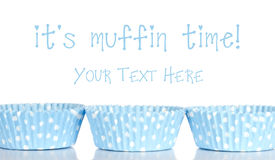 Empty cupcake cups baking background Royalty Free Stock Photo
