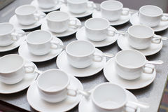 Empty cups Royalty Free Stock Images