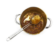 Empty Curry Pot Stock Image