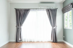 empty curtain interior decoration in living room Royalty Free Stock Photo