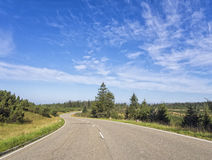 Empty curved road Stock Photo