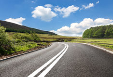 Empty curved road Stock Image