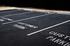 Empty Customer Parking Area With Copy Space Stock Image