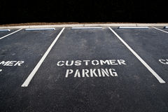 Empty Customer Parking Area Stock Images