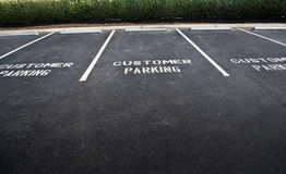 Empty Customer Parking Spaces Stock Photography