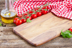 Empty cutting board Royalty Free Stock Images