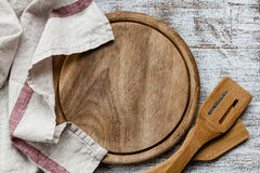 Empty cutting board Stock Images