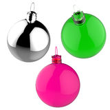 Empty 3d Christmas ornament Stock Images