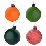 Empty 3d Christmas ornament Royalty Free Stock Photos