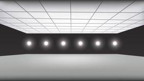 Empty 3d scene with lights Stock Photos
