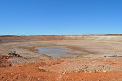 Empty dam drought no water Royalty Free Stock Photography