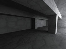 Empty dark abstract concrete basement room interior background Royalty Free Stock Photo