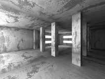 Empty dark abstract concrete room interior architecture backgrou. Nd. 3d render illustration royalty free illustration