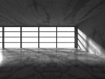 Empty dark abstract concrete room interior architecture backgrou. Nd. 3d render illustration Royalty Free Stock Images